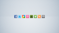 Bright Social Media Icon Set