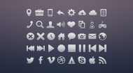 Vicons 36px Assorted Glyph Set