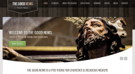 The Good News Church Theme (PSD)
