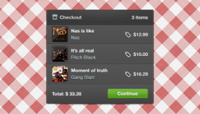 Simple Shopping Cart Checkout Widget
